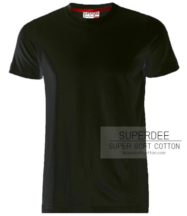 เสื้อยืดสีดำ super soft cotton t shirt เสื้อยืด คอตตอน ผ้า ซุปเปอร์ซอฟท์