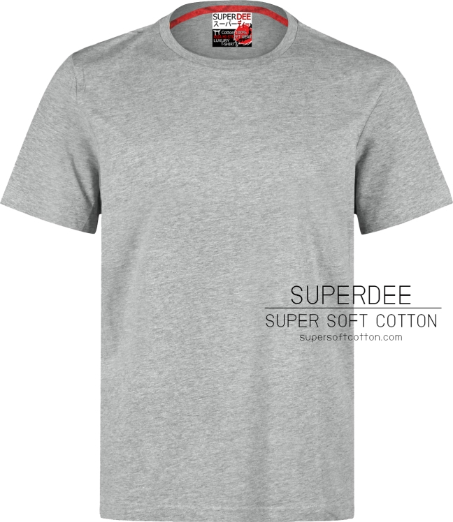 เสื้อยืดสีเทา super soft cotton t shirt เสื้อยืด คอตตอน ผ้า ซุปเปอร์ซอฟท์