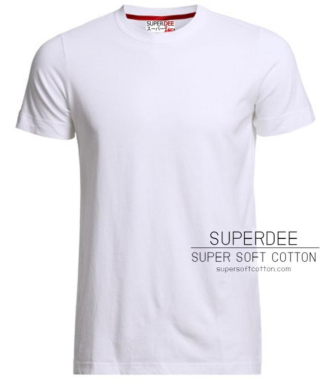 เสื้อยืดสีขาว super soft cotton t shirt เสื้อยืด คอตตอน ผ้า ซุปเปอร์ซอฟท์